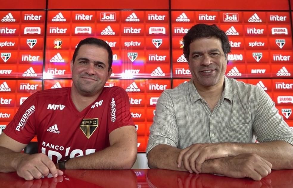 André Jardine foi efetivado por Raí como técnico do São Paulo em 2019 — Foto: Angelo Martins / saopaulofc.net