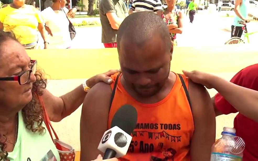 José perdeu a esposa na tragédia da Baía de Todos-os-Santos (Foto: Reprodução/TV Bahia)