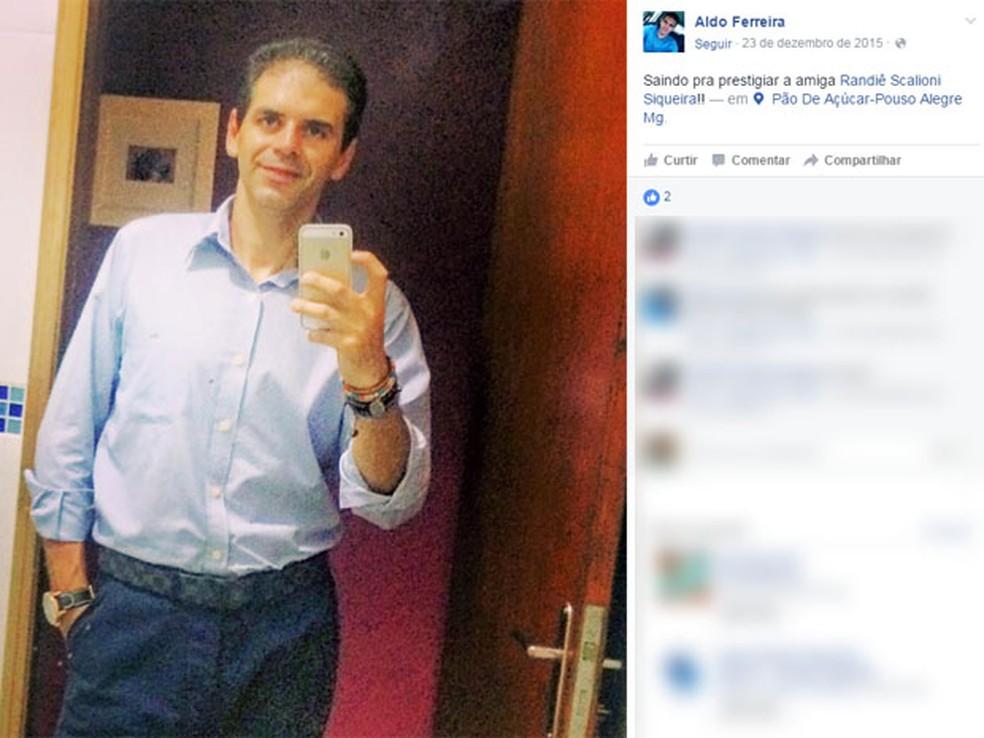 Corpo de psicólogo foi encontrado em Pouso Alegre — Foto: Reprodução Facebook
