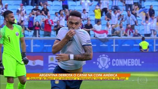 Argentina vence o Catar e vai pegar a Venezuela nas oitavas da Copa América