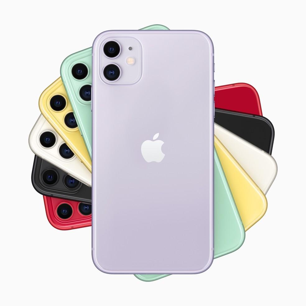 Todas as cores de iPhone 11 — Foto: Divulgação/Apple