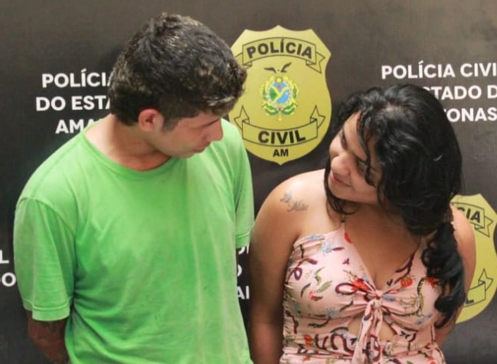 Casal suspeito de tentativa de homicídio trocou risos e olhares durante apresentação  — Foto: Eliana Nascimento/G1 Amazonas