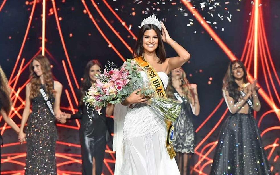 A jornalista e apresentadora Júlia Horta, de 24 anos, que representou Minas Gerais, foi escolhida a Miss Brasil 2019 — Foto: Reprodução / Facebook / Miss Brasil BE Emotion