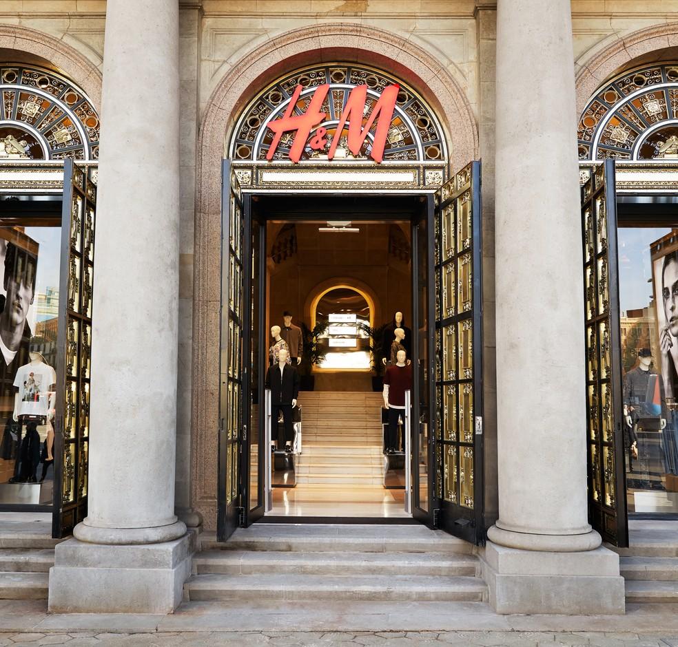 Loja da H&M em Barcelona, na Espanha — Foto: Divulgação/H&M