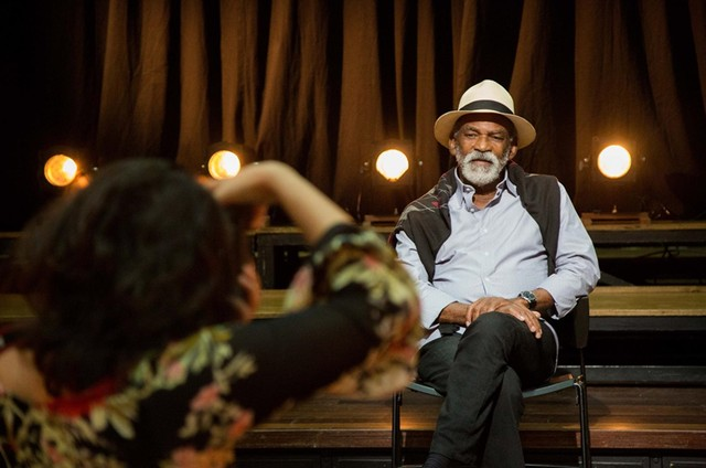 Antonio Pitanga no programa 'Atos', da TV Brasil (Foto: Pablo Henriques/CAL)