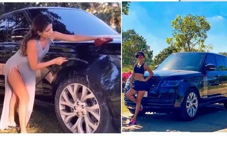 Paula Fernandes tem um Range Rover Reprodução