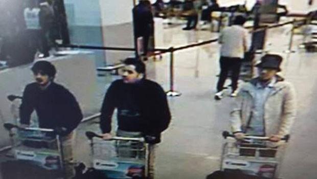 Imprensa belga divulgou foto que mostraria suspeitos do atentado terrorista no Aeroporto Internacional de Zaventem (Foto: Reprodução/HLN)