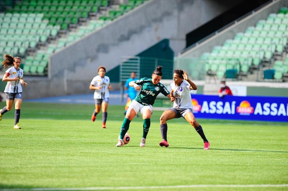Palmeiras dominou o jogo do início ao fim  — Foto: Rodrigo Corsi/FPF