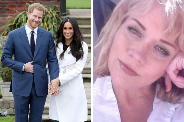 O casal real Harry e Meghan e meia-irmã da atriz, Samantha Markle Grant (Foto: Getty Images/Reprodução Twitter)