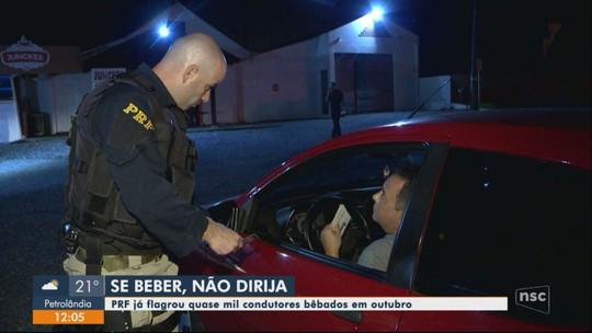'Cinturão da Oktoberfest' em SC: PRF flagra 195 motoristas embriagados