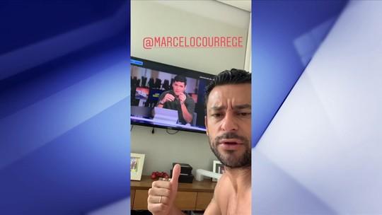 """""""Rei dos Stories"""", Fred faz brincadeira com o Redação SporTV"""