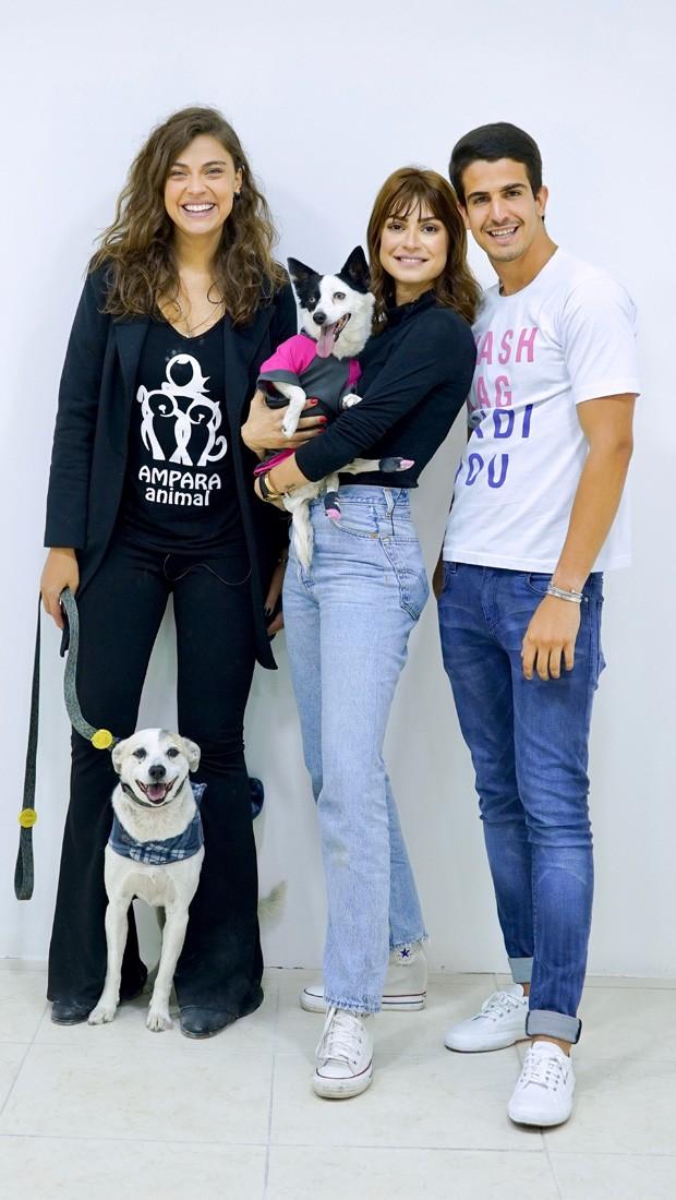 Juliana Camargo, Thaila Ayala e  Enzo Celulari (Foto: Mario Bregieira/Divulgação)