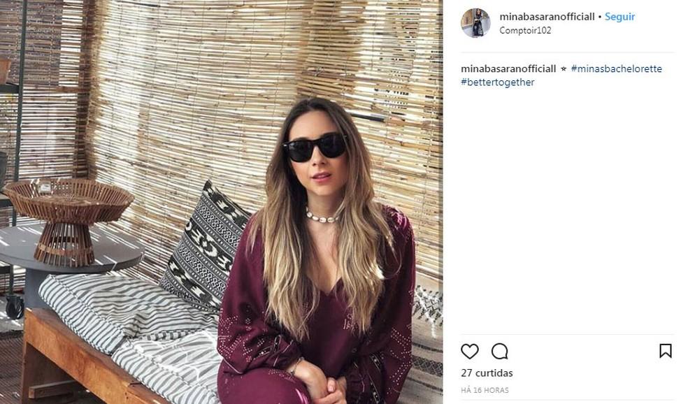 Fã clube de Mina posta foto da empresária. (Foto: Reprodução/Instagram)