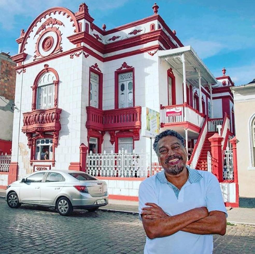 Jorge Portugal na cidade de Santo Amaro — Foto: Reprodução / Redes Sociais
