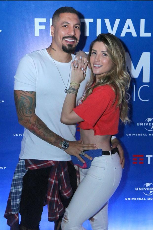 Fernando Medeiros e Aline Gotschalg (Foto: Daniel Pinheiro/AgNews)