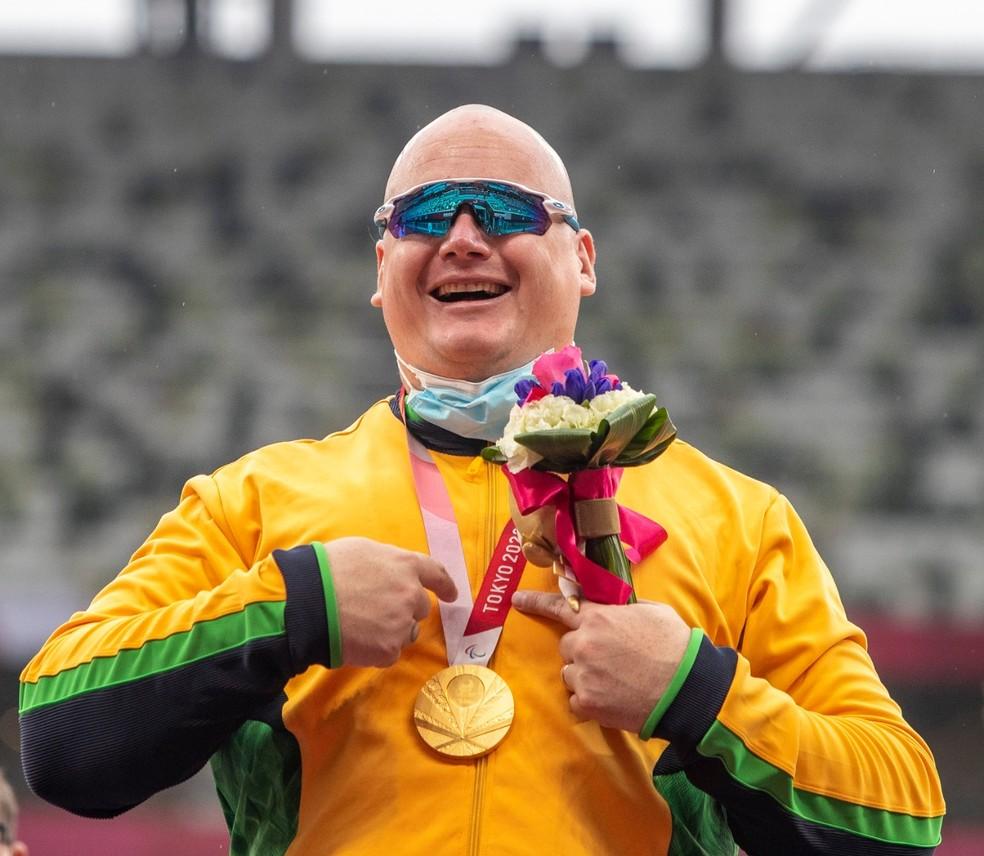 Alessandro da Silva, bicampeão paralímpico — Foto: Ale Cabral/CPB