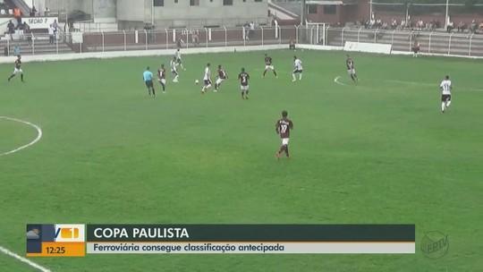 Assista aos gols que garantiram a Ferroviária na liderança da chave na Copa Paulista