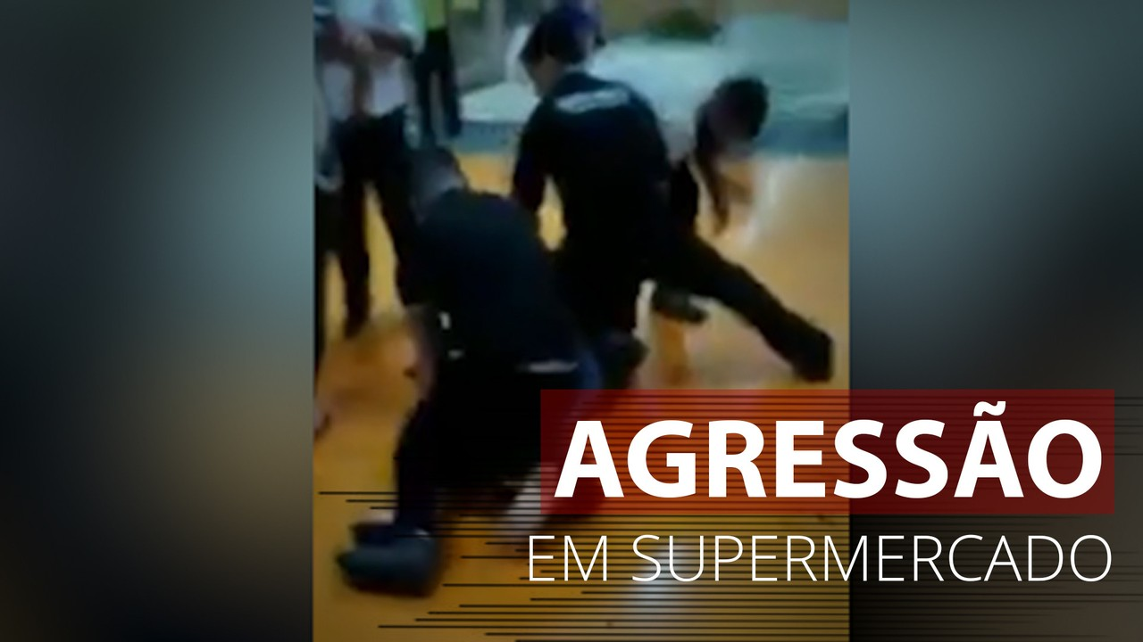 Imagens mostram homem sendo agredido em supermercado de Porto Alegre