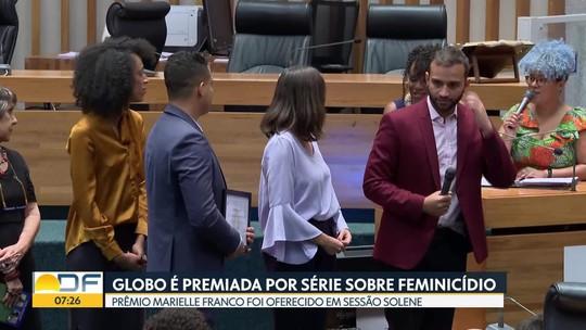 Globo recebe prêmio por série sobre feminicídio