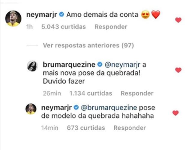 Neymar e Bruna  (Foto: Reprodução)