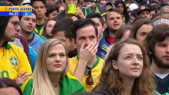 Empate do Brasil na estreia na Copa do Mundo frustra torcedores gaúchos