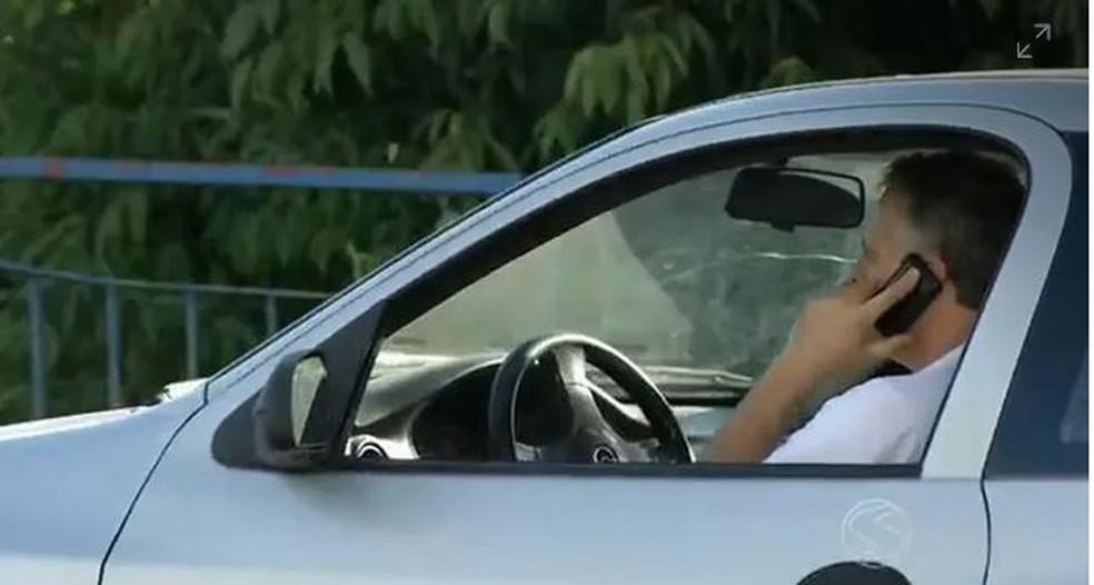 Rio Branco é uma das capitais com maior índice de motoristas que usam celular enquanto dirigem — Foto: Reprodução/TV Rio Sul