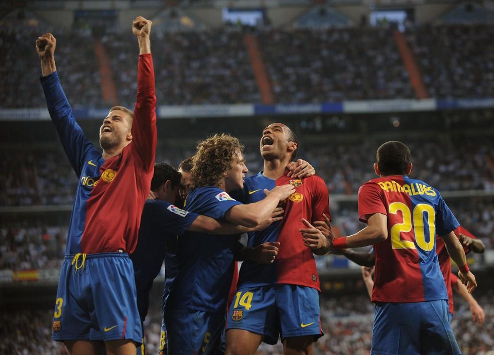 Barcelona goleou o Real Madrid por 6 a 2 pelo Campeonato Espanhol — Foto: Getty Images