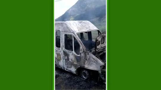 Van da equipe sub-20 do Itaboraí pega fogo, mas ninguém fica ferido