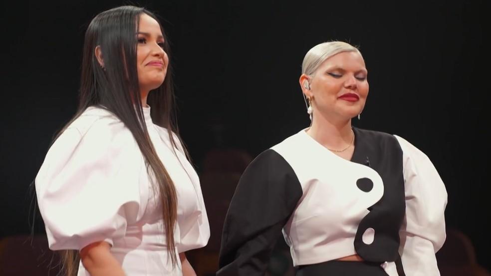 Juliette e Duda Beat no quarto episódio de 'Você Nunca Esteve Sozinha - O Doc de Juliette' no Globoplay — Foto: Reprodução/Globoplay