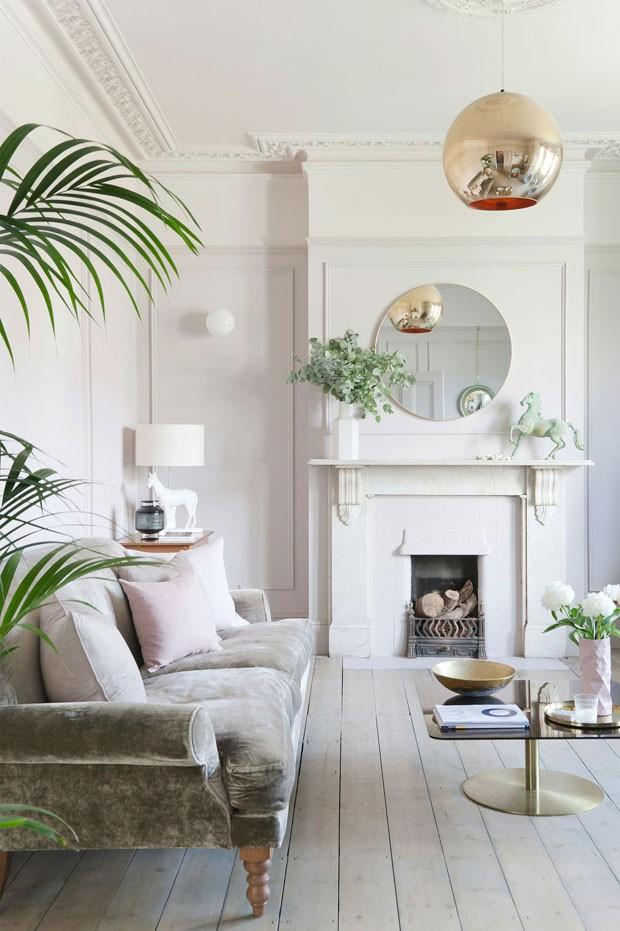 Décor do dia: sala de estar com toque rosa (Foto: Reprodução/Divulgação)