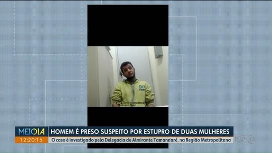 Homem é preso por estupro de duas mulheres, na região de Curitiba