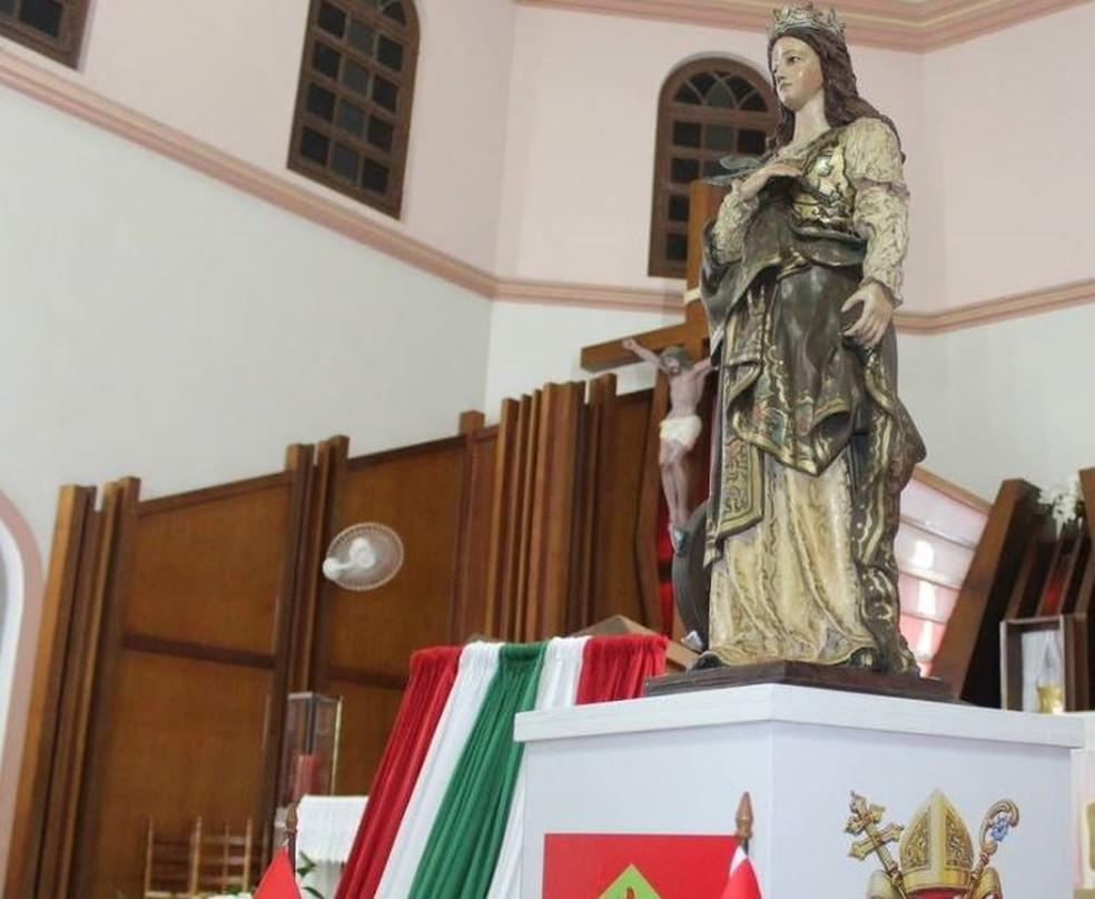 Santa Catarina de Alexandria, padroeira do estado de Santa Catarina e de Florianópolis (Foto: Arquidiocese de Florianópolis/Divulgação)