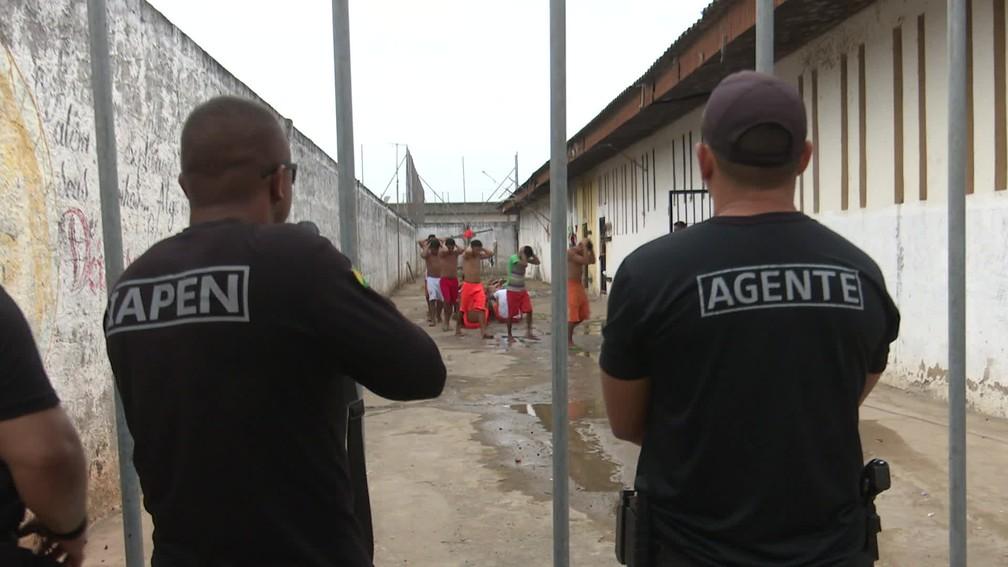 Controle em presídios é apontado como uma das causas da redução de crimes violentos no AC — Foto: Josué Martins/GloboNews