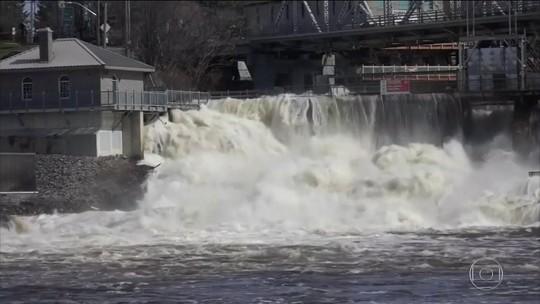 Chuva no Canadá força 5.000 a sair de casa
