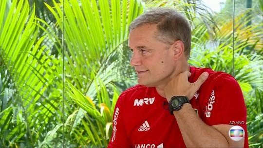 """""""Se acaba hoje, somos campeões. Apavorar por quê?"""", diz Aguirre, sobre momento do São Paulo"""