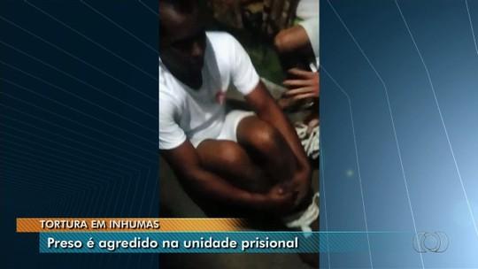 Preso é amarrado e torturado por outros detentos dentro de cela na cadeia de Inhumas, GO; vídeo