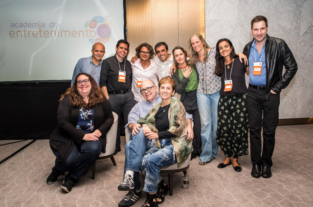 Workshop na Globo com produtores americanos (Foto: João Miguel Júnior/ TV Globo)