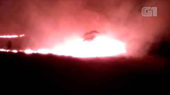 Fogo destrói área de vegetação equivalente a 14 campos de futebol em Macuco, RJ; vídeo