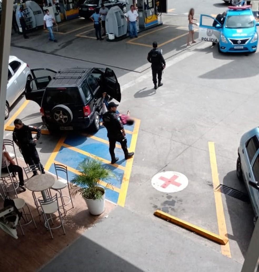 Confusão aconteceu em posto de combustíveis do bairro Balneário — Foto: Reprodução/Redes sociais