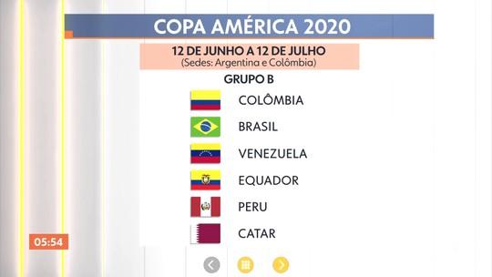 Confira o sorteio da Copa América