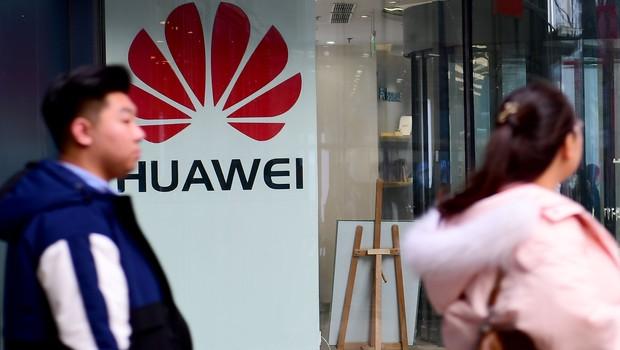Fachada de loja da Huawei na China (Foto: VCG/VCG via Getty Images)