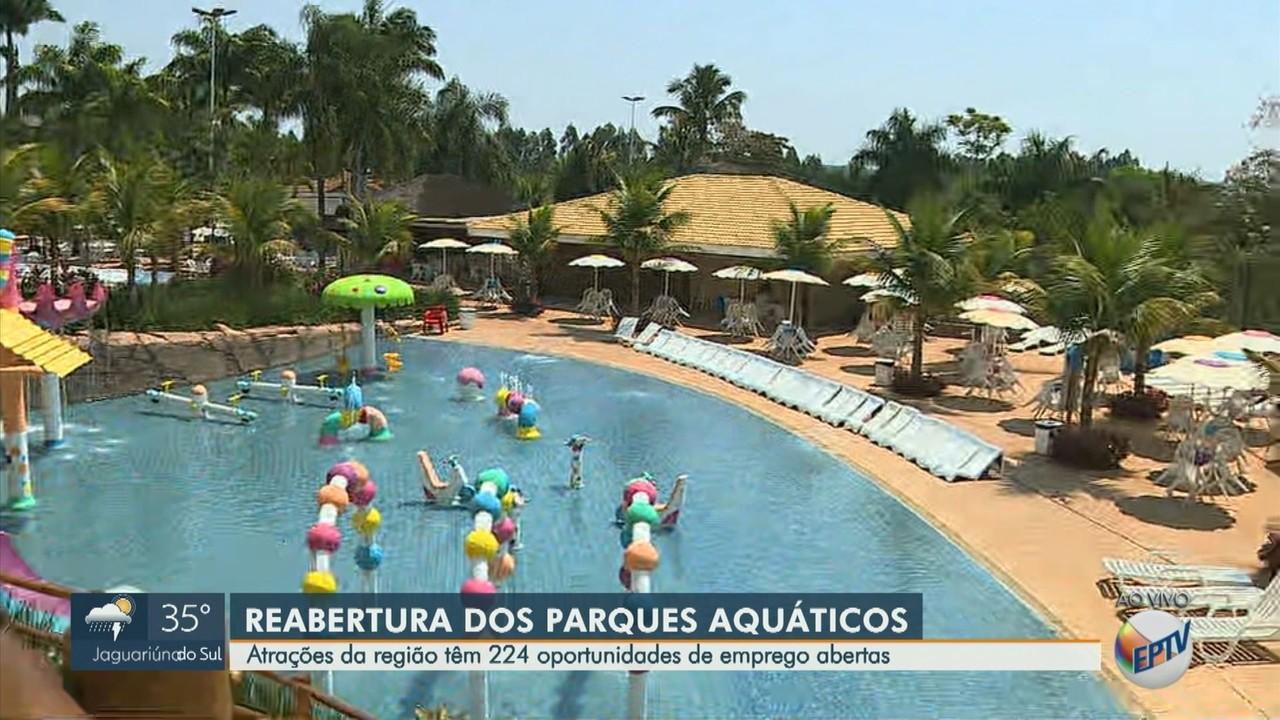 Parques aquáticos da região abrem 224 oportunidades de emprego