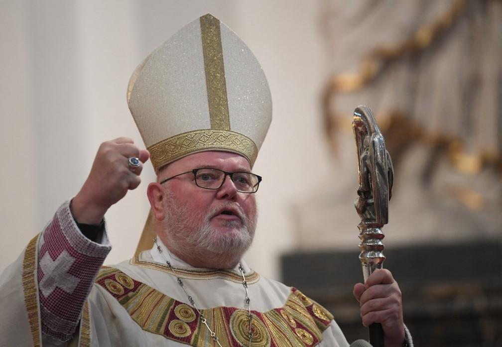 O arcebispo de Munique e ex-presidente da Conferência Episcopal Alemã, Reinhard Marx, em foto de setembro de 2018 — Foto: Arne Dedert/DPA/AFP/Arquivo