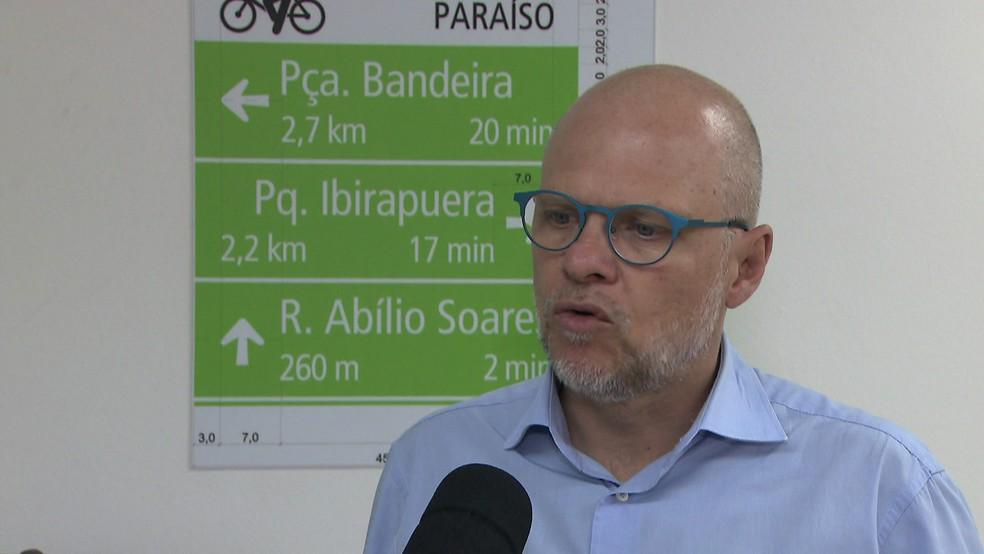 Sergio Avelleda, ex-secretário de Transportes de São Paulo (Foto: TV Globo/Reprodução)