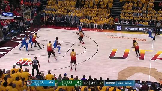 Melhores momentos: Oklahoma City Thunder 102 x 115 Utah Jazz pelos playoffs da NBA