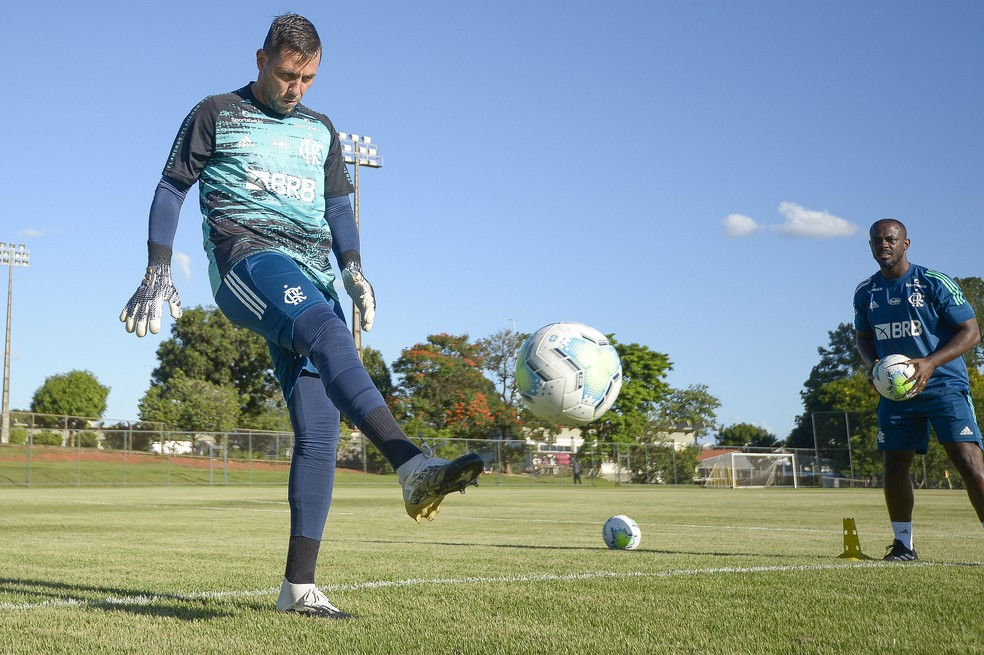 Diego Alves Flamengo — Foto: Alexandre Vidal / Flamengo