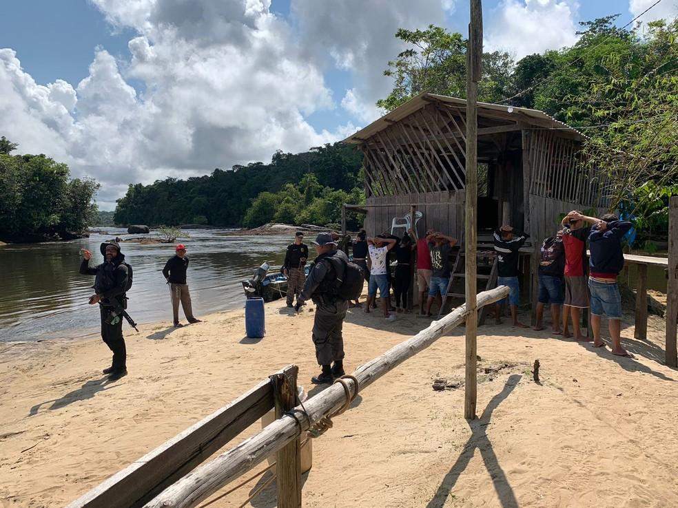 Operação 'Hórus' reforçou policiamento na fronteira do Brasil com a Guiana Francesa — Foto: Polícia Civil/Divulgação