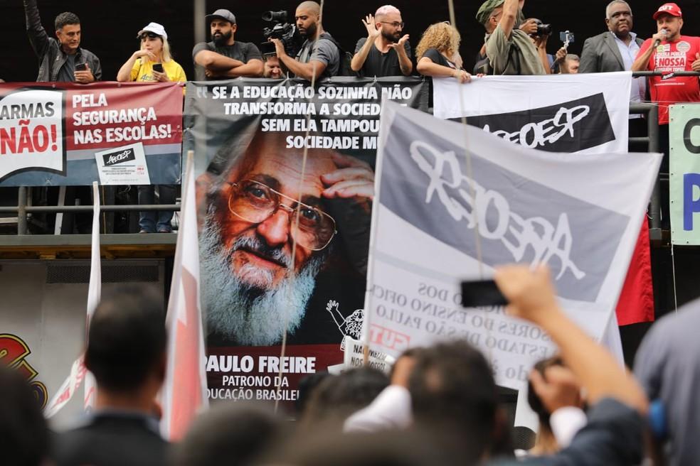 Protesto na Avenida Paulista  — Foto: Fábio Tito/ G1 SP