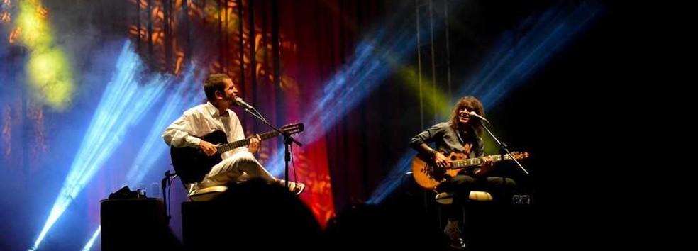 Os cantores Saulo e Luiz Caldas se apresentarão em um show de voz e violão, no Cerimonial Rainha Leonor, em Salvador. O show está marcado para quarta-feira (12) — Foto: Divulgação