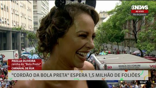 Paolla Oliveira comanda a folia no Cordão do Bola Preta